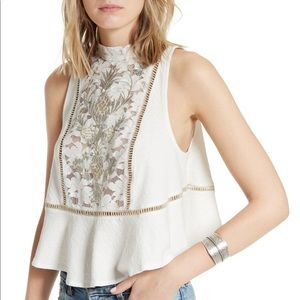 Free People Flora Tank in White